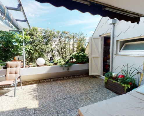 545 - Terrassenwohnung mit elegantem Haus-im-Haus-Konzept in Stuttgart-Neugereut - Heckenlau Immobilien - Makler für den Verkauf von Wohnimmobilien in Stuttgart