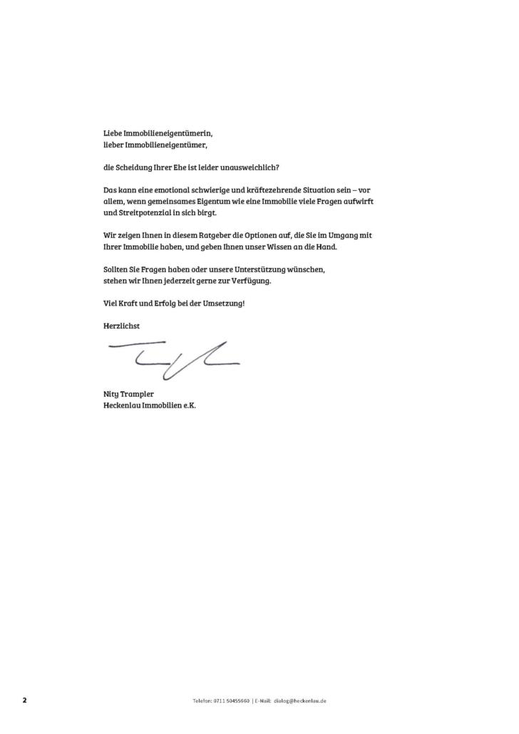 Immobilie in der Scheidung - Ratgeber von Heckenlau Immobilien - Makler für den Verkauf von Wohnimmobilien in Stuttgart