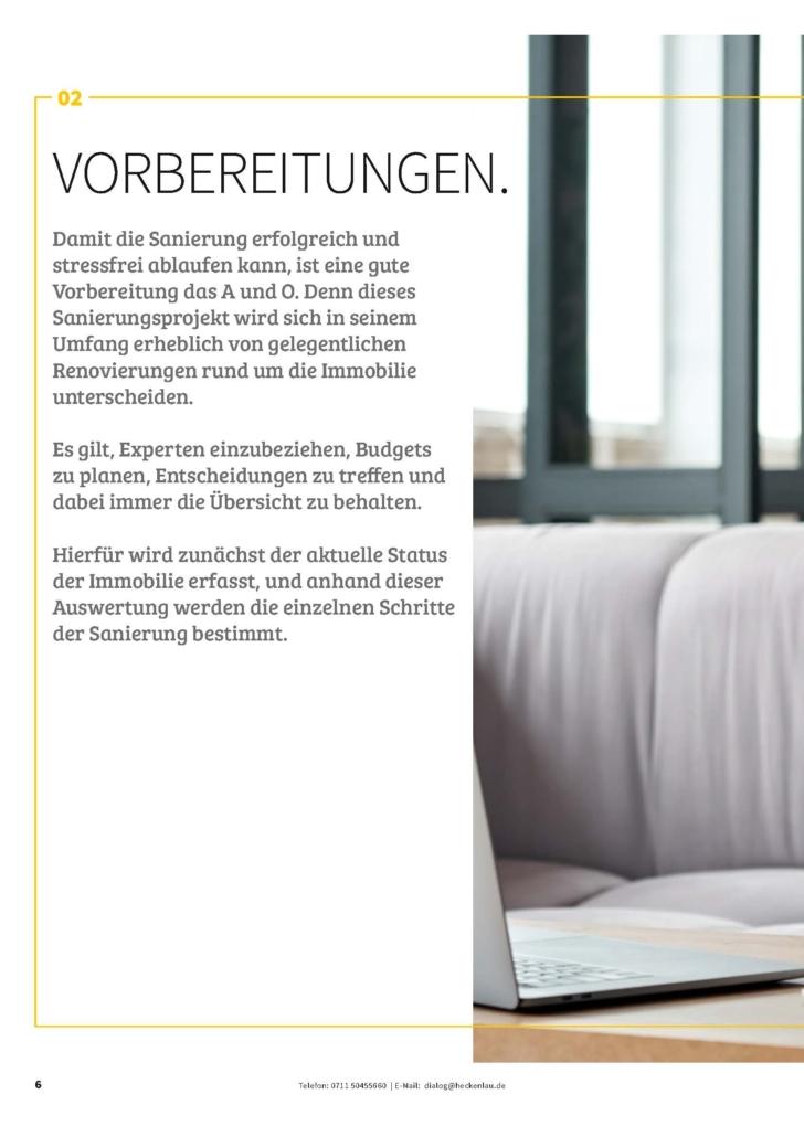 Immobilie sanieren - Ratgeber von Heckenlau Immobilien - Makler für den Verkauf von Wohnimmobilien in Stuttgart