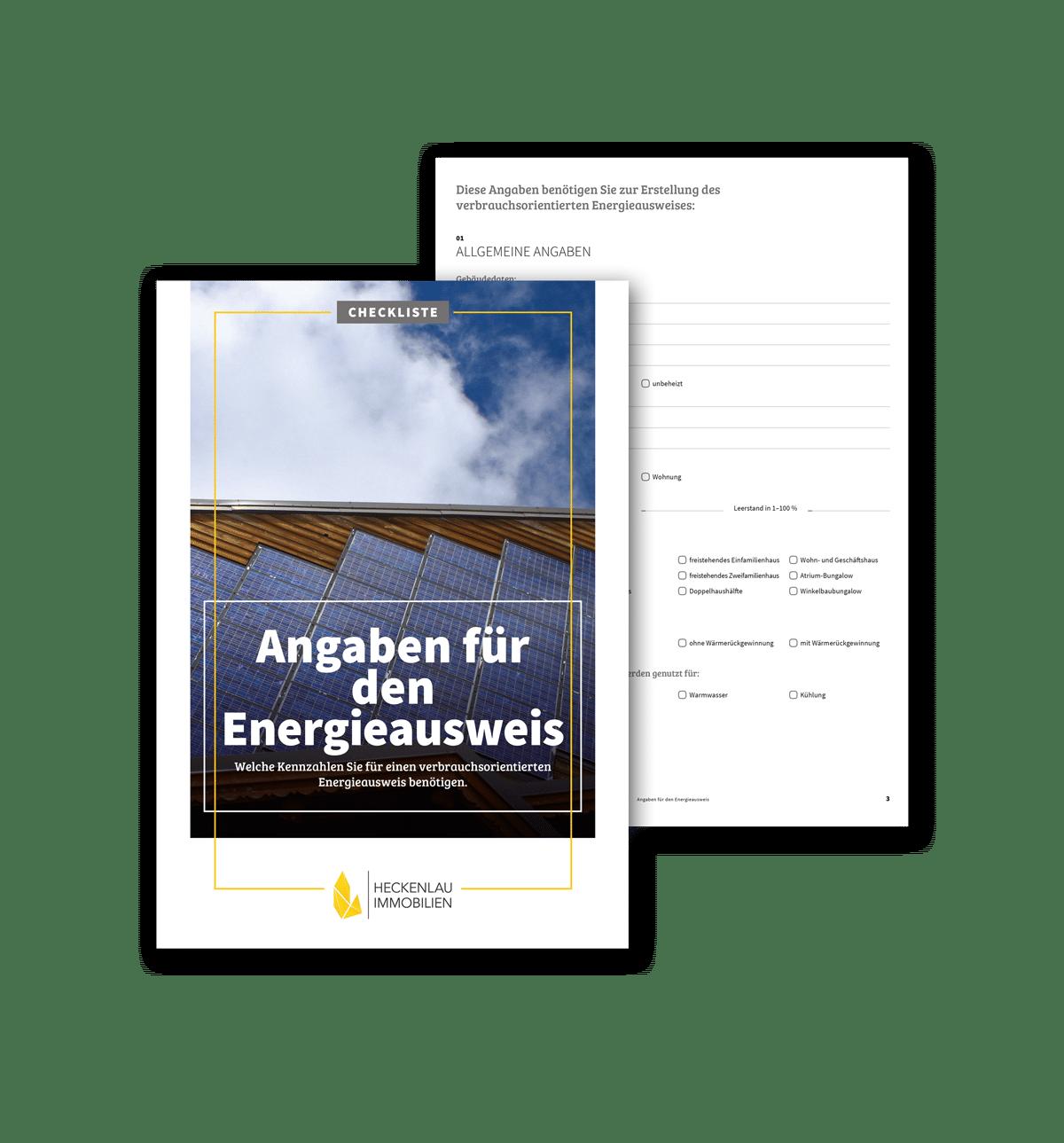 Checkliste Energieausweis - Checkliste von Heckenlau Immobilien - Makler für den Verkauf von Wohnimmobilien in Stuttgart